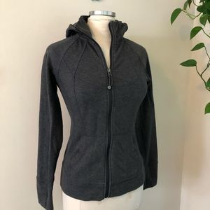 Athleta slub strength hoodie sweatshirt gray small